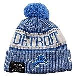 New Era NFL Sideline Bobble Knit 2018/2019 Season Beanie (Detroit Lions)
