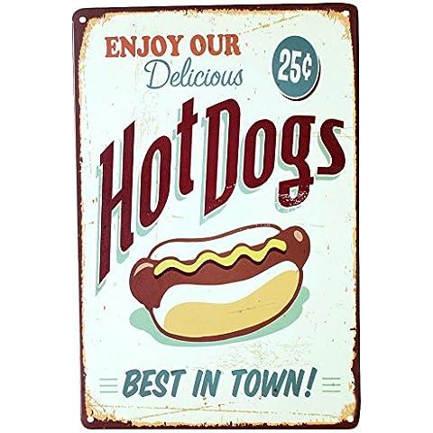 Cartel con Pastel, postre, hamburguesa, estilo Vintage, de lata, para Bar, Pub, casa, decoración de pared, de Metal, póster Retro, metal, B, talla