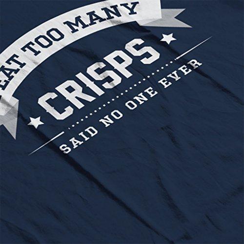 I Eat Too Many Crisps Said No One Ever Women's Vest Navy blue