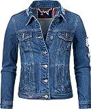 Navahoo Damen Jeansjacke Übergangsjacke Pamuyaa Blau Denim Gr. XXL