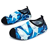 L-RUN Kids Water Shoes Boys Girls Easy Walking Shoes Slip-on Shark 3-4=EU 18-19