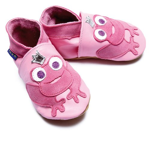 Inch Blue - 1264 L - Chaussures Bébé Souples - Frog Princess - Rose Clair - T 20-22 cm - 12-18 mois