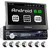 XOMAX XM-DA712 Autoradio mit Android 8.0, OctaCore, PX5, 4GB RAM, 32GB ROM, GPS Navigation, DVD, CD I Support: WiFi WLAN, 3G 4G, DAB+, OBD2 I Bluetooth, 7 Zoll / 18 cm Touchscreen, USB, SD, AUX 1 DIN