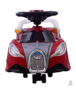 Early Smile Red Non Electric Ride On Cars For Kids