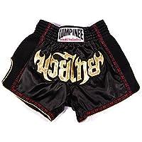 Lumpinee Noir rétro Muay Thai Short pour Kick Boxing Fight Lumrto-010
