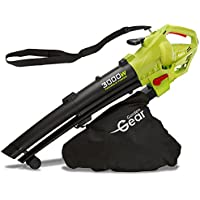 Garden Gear Leaf Blower Vacuum & Shredder Mulcher, Electric 3 in 1, Variable Speed with Large 45L Capacity Collection Bag, 10:1 Shredding Ratio, 10m Cable, 3000W (Leaf Blower)