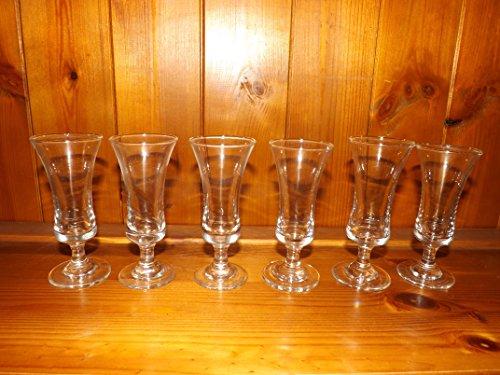 Sherry-Gläser, Vintage, Elgin-Sherrygläser, 6 Stück -
