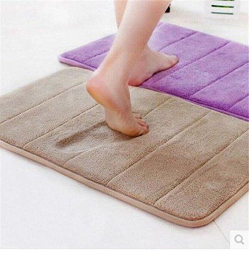 Grün: 2016Hot Bad-Teppiche saugfähig Memory Schaum soft Tür Boden Badteppich 40* 60cm rutschfest Teppiche Teppich