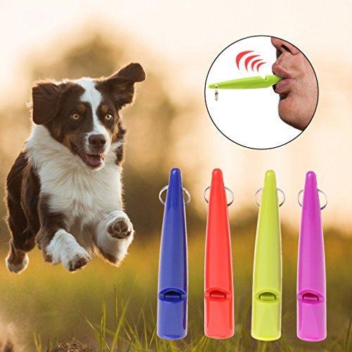 FURU 4Pet Hunde Training Whistle Laut Tragbar Flöte Kunststoff Farben zufällig