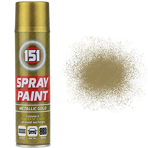 1-x-250-ml-151-metallic-gold-aerosol-paint-spray-cars-holz-metall-wanden-graffiti