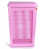 Princeware Ariel Laundry Basket With Lid (pink)