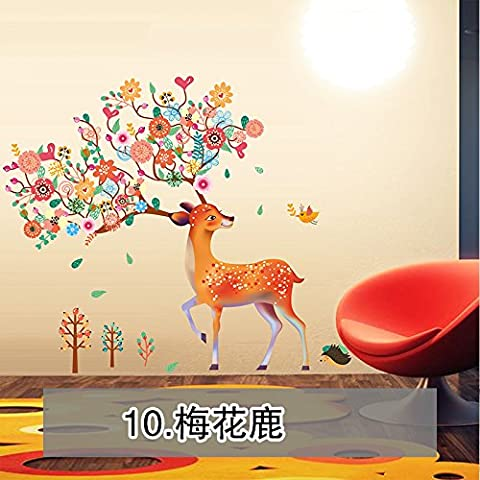 Cartoon room children's room decorating ideas living room bed self adhesive wallpaper bedroom stickers Moose girls wall stickers,09,Extra large