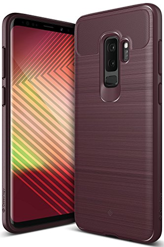 Caseology Vault Series Case Designed for Galaxy S9 Plus with Thin Non-Bulky Coverage and Shock Absorbent Drop Protection for Samsung Galaxy S9 Plus (2018) - Burgundy