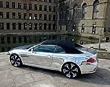 Pellicola in vinile per auto, colore argento / cromato, effetto specchio, posa senza bolle d'aria, 30cm x 1,52m