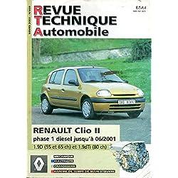 REVUE TECHNIQUE AUTOMOBILE N° 659 RENAULT CLIO 2 PHASE 1 DIESEL 1.9 D (55 ET 65 CH) ET 1.9 DTI (80 CH) JUSQU'A 06/2001