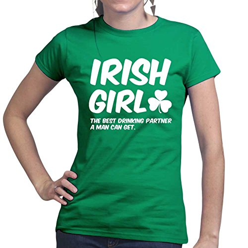 Irish Girl Paddys St Patricks Day Funny Ladies T shirt Tee (St Paddy's Day Kostüme)