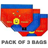 Preisvergleich für ZIPPER BAG for Brick Lunch Boxes Bento for Children Toddler Kids, Thermal Bag, Insulation Bag (PACK OF 3 BAGS)