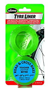 Slime Road and Cross Tyre with Liner 26/27/700 - One Pair