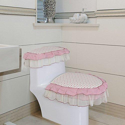 Typ Parfüm (WANG-shunlida Reißverschluss Verdickung allgemeine WC-Sitz decken drei Hülse jacke Typ WC-Sitz ring, Parfüm Lily)