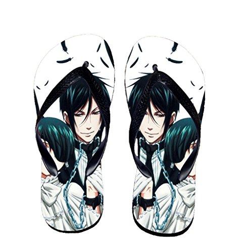 Bromeo Black Butler Anime Unisex Flip Flops Zehentrenner Flip Pantoffeln 59