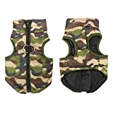 #6: Duopi Dog Clothes Winter Jacket Poodles Pugs French Bulldogs Clothing Vest (32844073322_Green-S)