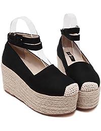YMFIE Ladies' dita dei piedi sandali estivi nuovo stile semplice di moda comoda e tacco alto scarpe tacco,39…