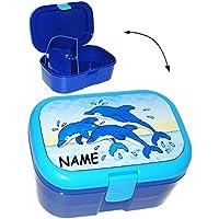 Preisvergleich für alles-meine.de GmbH Lunchbox / Brotdose - Delfine - Fische - mit Extra Einsatz / Herausnehmbar..