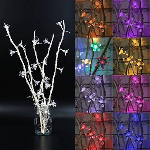 MASUNN 25 LED Cherry Blossom Tree Tavolo Lampada da Terra Camera Casa Notte Decorazione Luce - Viola