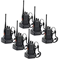 Walkie Talkie, Sunreal baofeng BF-888S Portable Two Way Radio UHF 400-470MHz With Rechargeable Li-ion Battery (pack of 6)