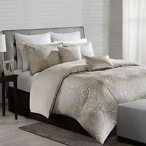 Echo Design Juneau Bettbezug für Doppelbett, neutral,