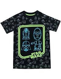 Star Wars - Camiseta para niño - Brilla en la Oscuridad