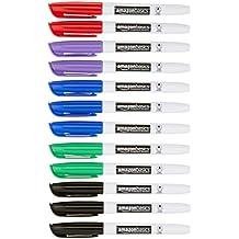 AmazonBasics - Rotuladores permanentes - Varios colores - Pack de 12