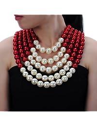 collier fantaisie perle femme