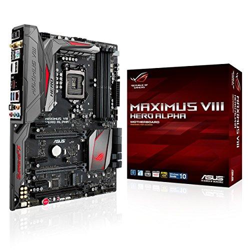 Asus Maximus VIII Hero Alpha Gaming MB Scheda Madre, Nero/Rosso