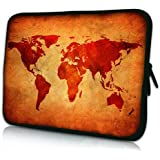 PEDEA Design Schutzhülle Notebook Tasche bis 15,6 Zoll (39,6cm), Brown Global Map