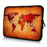 PEDEA Design Schutzhülle Notebook Tasche bis 15,6 Zoll (39,6cm), Brown Global Map