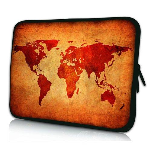 Pedea Design Tablet PC Tasche 10,1 Zoll (25,6 cm) neopren, brown global map Preis