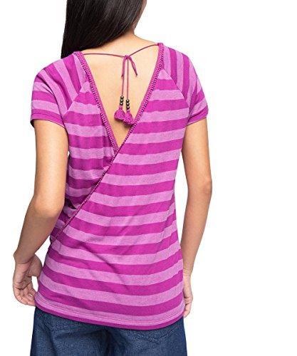 edc by Esprit 046cc1k014 - Open Back - T-shirt - Femme Violet - Violet (Violet)
