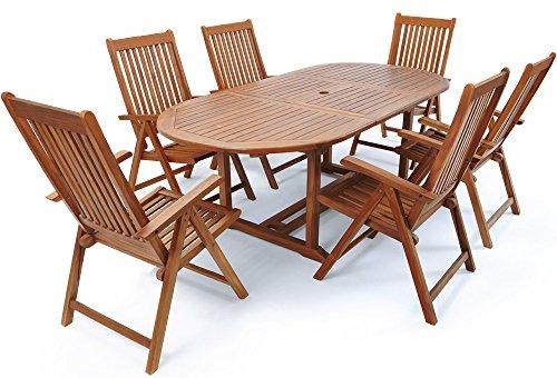 Deuba Sitzgruppe Vanamo aus Eukalyptusholz - 6