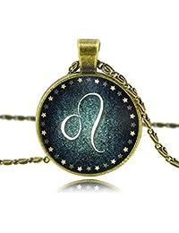 Mese London Collar con colgante de signos de Zodiaco, en caja de regalo
