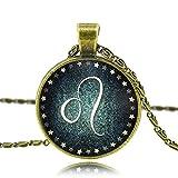MESE London Leo Horóscopo Collar Signos del Zodiaco 'The Omen' en Caja de Regalo Elegante