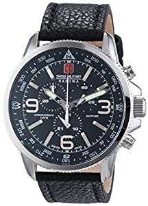 Swiss Military 6-4224.04.007 - Reloj de pulsera hombre, piel, color negro de Swiss Military