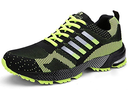 Men's Comfortable Lace Up Athletic Running Shoes Men green