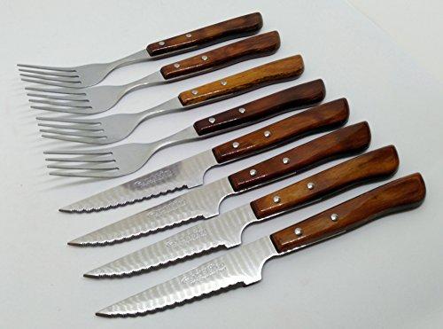 4 couteaux et 4 fourchettes Durofol Quttin Ensemble de 11 cm avec scie