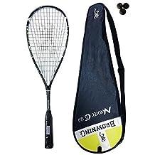Browning Nanotec Ti 120-Racchetta da squash, colore: giallo, confezione da 3 palline da squash Dunlop 300