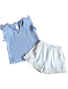 [Patrocinado]Ropa para chicas, RETUROM Cómoda bebé verano chaleco + pantalones cortos pantalones ropa conjunto