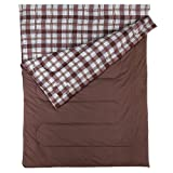 Coleman Sleeping Bag Hampton Double, Rectangular Double Sleeping Bag, Indoor & Outdoor, 3 Season, Extra Long, Warm Filling, for 2 Adults, 220 x 150 cm, Comfort Temperature +6° C