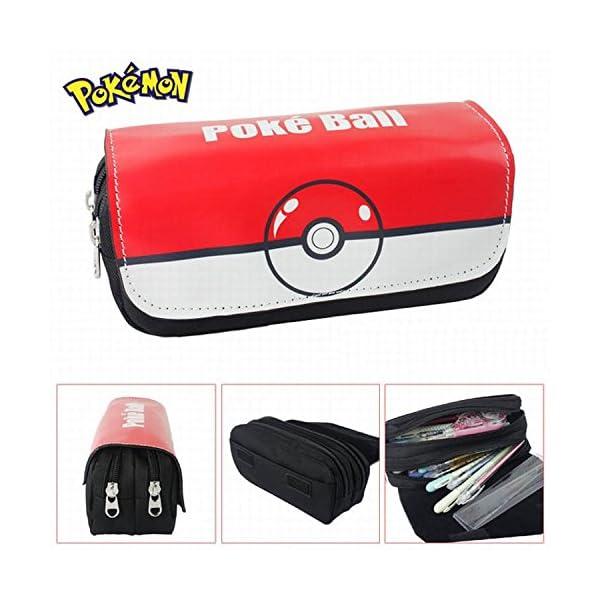 Estuches Material escolar Portatodo doble Pokemon Pokeball