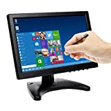 Toguard 10.1 Inch IPS Touch Monitor Bildschirm mit Eingabestift Farbe Ultra Dünn HD 1280 * 800 Video Monitor Display mit BNC/AV/HDMI/VGA-Video Eingang, Kopfhörer Ausgang, integrierter Lautsprecher