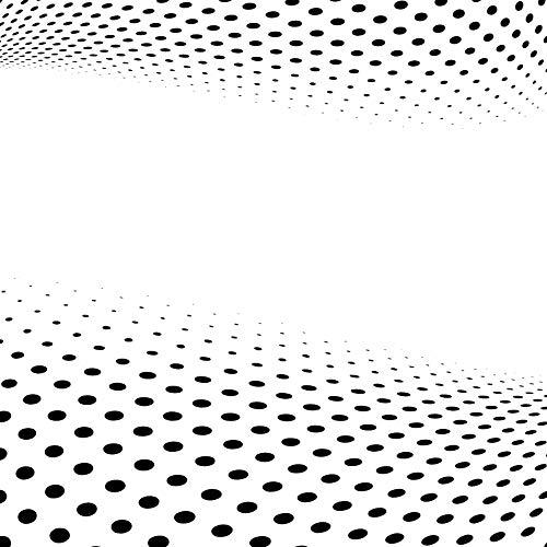 Moderne Schablone für optische Illusion, Wellen und Punkte, wiederverwendbar, große Größen, moderner Stil, Selbstklebende Folienschablone, M size - 100 x 100 cm, 39.3 x 39.3 in (Schablone Welle Große)